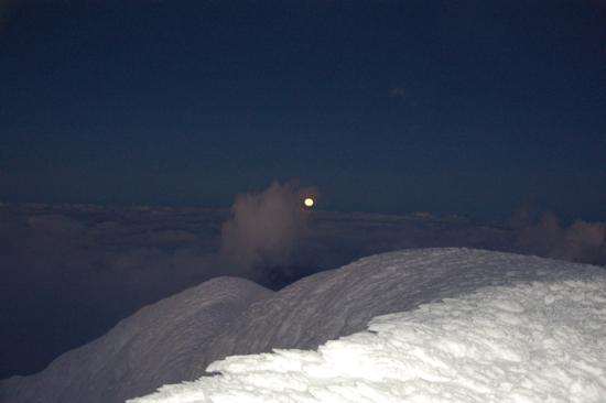 Coucher de lune depuis le Cotopaxi