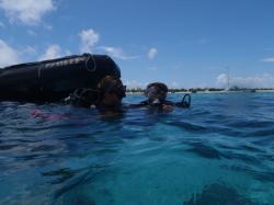 Mise de l'équipement dans l'eau